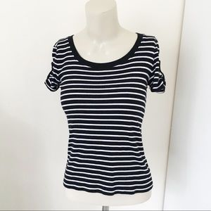 Lauren Ralph Lauren | Black & White Striped Tee